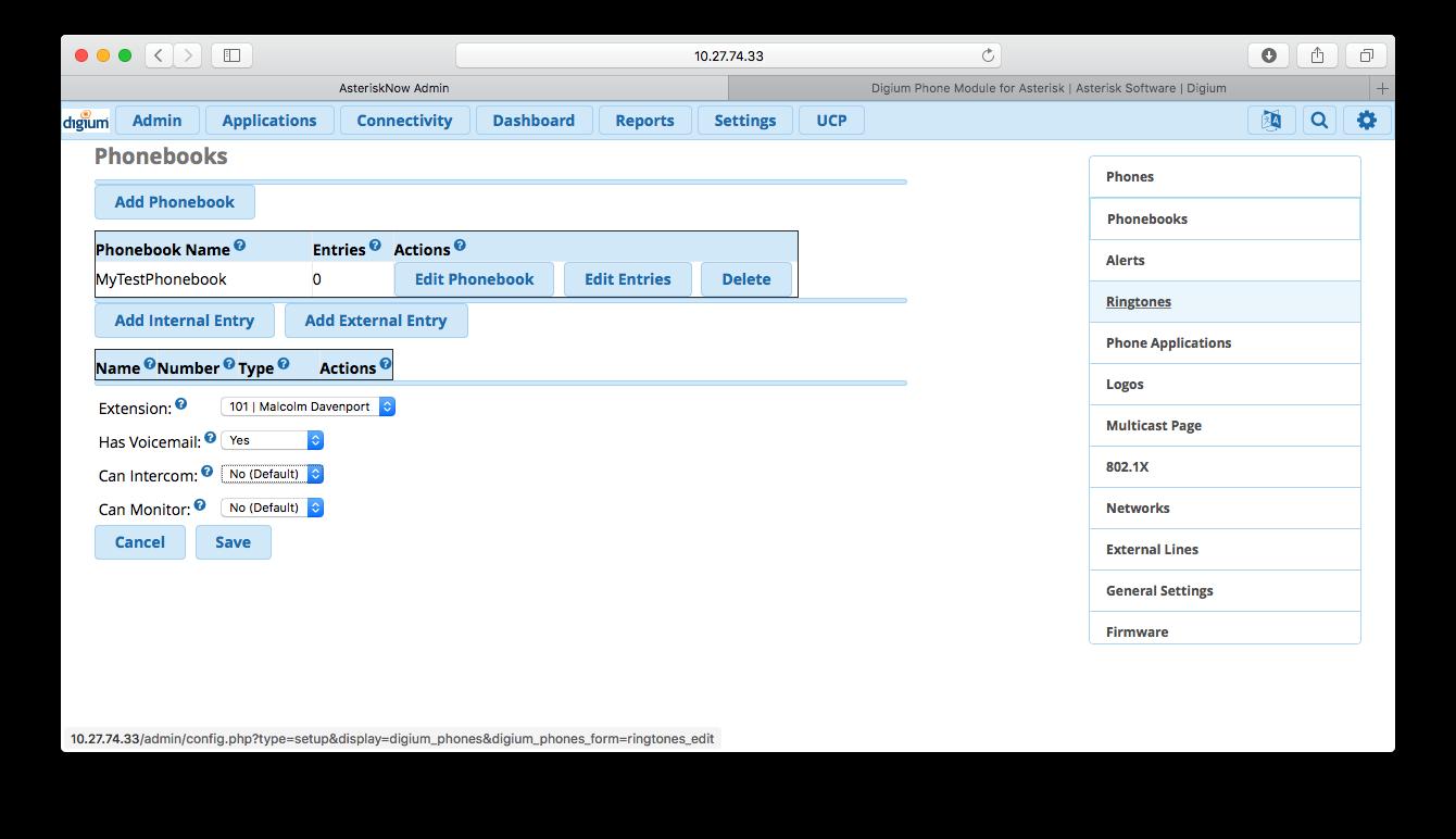 Freepbx Remote Database