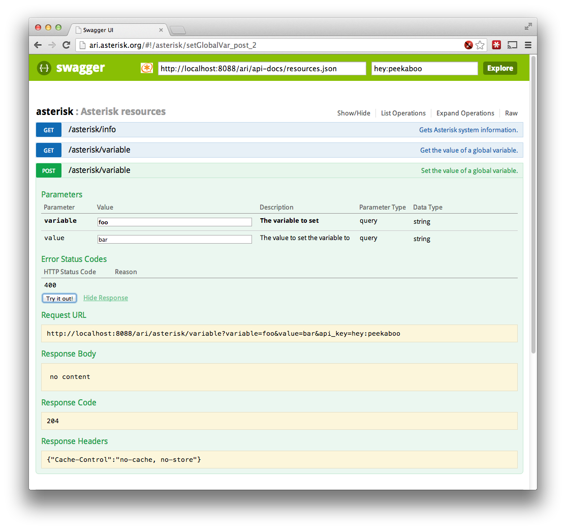 Using Swagger to Drive ARI - Asterisk Project - Asterisk Project Wiki