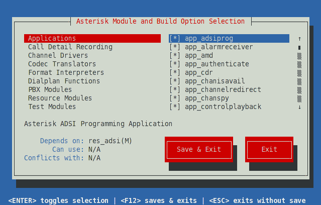 Using Menuselect to Select Asterisk Options - Asterisk Project